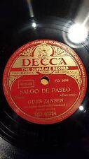 JAZZ 78 rpm RECORD Decca GUUS JANSEN Organ SALGO DE PASEO Starr ZAPATOS CON ALAS