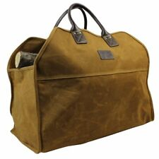 Inno Stage Heavy Duty Wax Canvas Log Carrier Tote,Large Fire Wood Bag,Durable