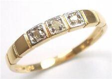 10K GOLD 3 NATURAL DIAMONDS BAND RING