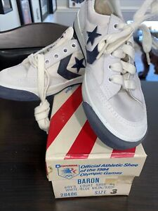 Vintage Converse Official Shoe Of 1984 Olympics Unisex Kids Sz 3 NOS NIB Sneaker