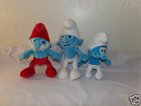 Lot 3 Plush Smurfs w/ Build A Bear PAPA Smurf (51)