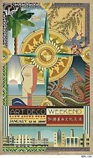 Art Deco Weekend Poster 2007 By Philip Brooker Shanghai to Miami East Meets West