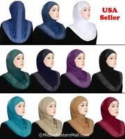 Muslim Women Fashion Soft Scarf Islamic Hijab Zalfa design Long Wrap Head-wear