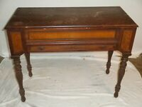 "Vintage Spinet Mahogany Flip-top Secretary Desk 19th Century, 41""x 20"" approx."