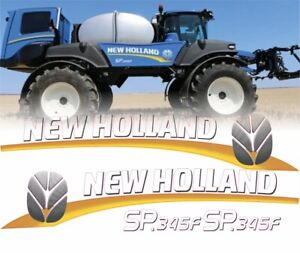 New Holland SP.345F Self-Propelled Sprayer Decals / Stickers ( Complete Set )