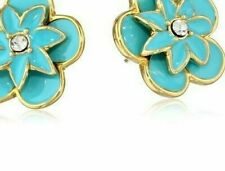 Kate Spade Graceful Garden Earrings NWT Vibrant Blue Perfection Stunning Floral!