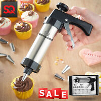 SQ Stainless Steel 22pc Biscuit Cookie Icing Cake Decorating Set Piping Gun