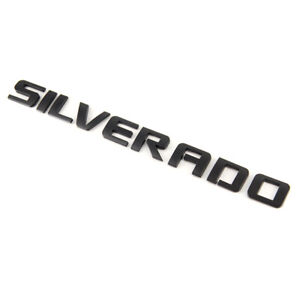 Black Emblems Badges Nameplate Letter For Chevy SILVERADO 1500 2500HD