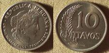 Peru : 1937 10 Ct Bu Luster #214.2 Ir7829