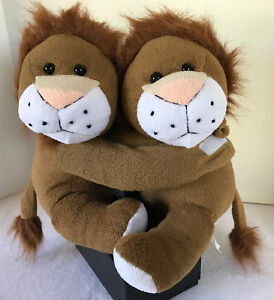 Animal Alley Sitting Lions with Hugging Arms Brown Plush Collectible