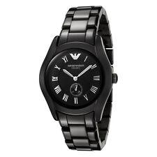 Emporio Armani Uhr AR1402 CERAMICA Keramik Schwarz Damen Armbanduhr Quarz NEU