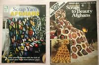 2 Crocheted Books  Scraps to Beauty & Scrap Yarn Afghans Stained Glass Pattern