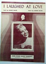 SUNNY GALE Sheet Music I LAUGHED AT LOVE Redd Evans Publ. 50's POP Vocal