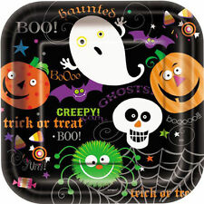 10 x Halloween Spooky Smiles Party Paper Plates Childrens Party or Dessert Plate