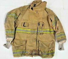 40x32 Globe Gxtreme Firefighter Brown Turnout Jacket Coat with Yellow Tape J801