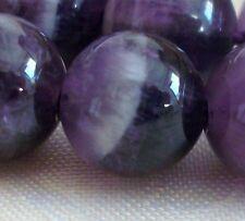 25 Perles Percé Pierre Fine Améthyste 14mm Gemme Pierre Naturelle semi précieuse