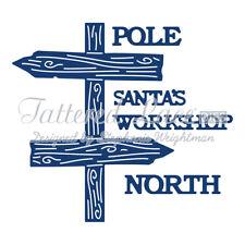 "Tattered Lace Dies ~  North Pole, TTLD868 Large Words: 5/16"" tall ~ NIP"