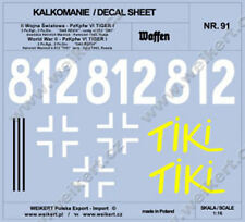 """1:16 - DECALS - water decal - Pz.Kpfw. VI TIGER I - 812 tank """"TIKI"""" - 2nd Pz.Div"""