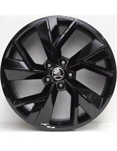 Genuine SKODA / VW 19 Inch Wheels Set Of 4 Gloss Black