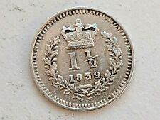 More details for 1839 victoria three halfpence 1 1/2d  - good detail - very collectable .