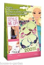 STYLE ME UP Craft Sequin Loop Earings Girls Gift Idea
