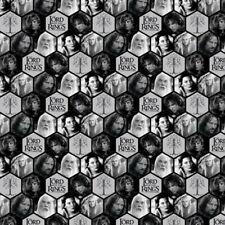 LOTR Grey Characters Polygons Digitally Printed Camelot Fabrics FAT QUARTER