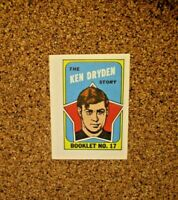 1971-72 Topps/OPC Hockey Booklet #17 Ken Dryden (Montreal Canadiens) RC