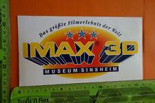 Pegatinas edad vídeo película cine música IMAX 3d museo Sinsheim