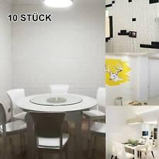 10Tlg 3D Tapete Wandpaneele Selbstklebend Ziegelstein Wandaufkleber Wasserdicht