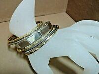 Lot of 8 LOVELY Vintage RETRO Stack Bracelets ALL Different Gold & Silver Tones