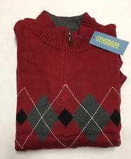 NWT Gymboree Holiday Pictures Dad Red Argyle Sweater XL