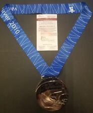 JOE PAVELSKI Signed SJ Sharks, 2010 USA Silver OLYMPIC Medal.WITNESS JSA