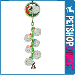 Green Parrot Bird Toy DANGLE BERRIES (FREE DELIVERY)
