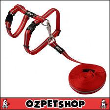 Rogz AlleyCat Cat Harness & Lead Set - Red Small