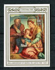 NIUE 1980 S/S Christmas painting Andrea Dal Sarto MNH (A-1706)