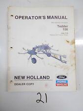 New Holland Model 156 Hay Tedder Operator's Manual Original 10-88 OEM 43015612