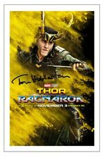 TOM HIDDLESTON THOR RAGNAROK SIGNED PHOTO PRINT AUTOGRAPH POSTER LOKI
