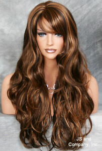 EXTRA Long Flowing Beachy wavy Full Wig Brown mix layered JSJO 4-27 NWT