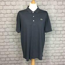 Lacoste Sport XXL para Hombre Reino Unido Talla 7 Gris Polo Camiseta Casual Diseñador Camiseta CS