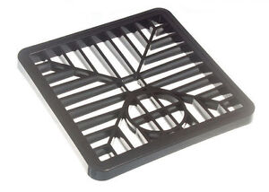 NEW PK 50 OF DRAIN COVER GULLEY GRIDS LID BLACK PVC 6 INCH 150MM SQUARE