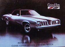 1973 PONTIAC CAR DEALER: CASCADE PONTIAC - BUICK  (SHAWINIGAN SUD QUEBEC) -JN6