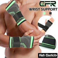 Wrist Support Brace Arthritis Gloves Compression Copper Pain Relief Hand Sports