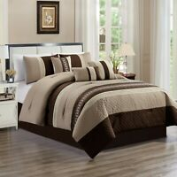 7 Piece Embroidery-Microfiber Fabric Luxurious Bed In A Bag Comforter Set(21508)