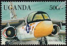 US Lockheed S-3 / S3A VIKING Carrier-Based Anti-Sub Aircraft Stamp (1998 Uganda)