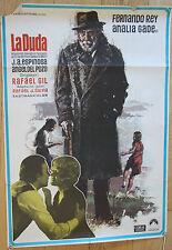 Used - Cartel cine  LA DUDA   Vintage Movie Film Poster - Usado - 98 x 69,5 cm