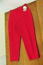 NWT Woman Liz Claiborne 100% Silk Party Dress Slacks Sz 14 Red Tapered Ankle New