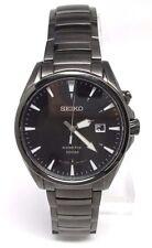 Seiko SKA567 Kinetic Black IP Stainless Steel Black Dial Men's Watch BROKEN!!!!