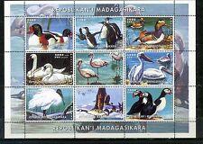 MADAGASCAR 1999 FAUNA BIRDS SHEET OF 9 STAMPS MNH