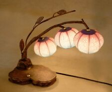 Paper Shade Lantern Table Decor Accent Bedroom Bedside Touch Art Deco Lamp Light