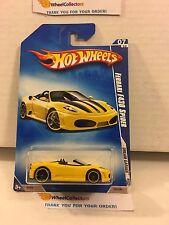 Ferrari F430 Spider #153 * Yellow * 2009 Hot Wheels * L15